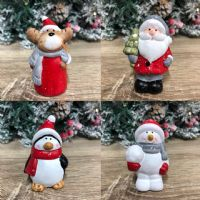 Ceramic Hand Painted Christmas Cake Topper Ornament - Santa